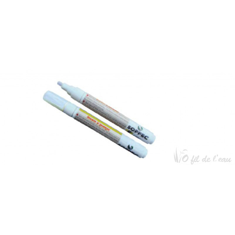 Marqueur blanc pour bache epdm o fil de l 39 eau for Bache firestone